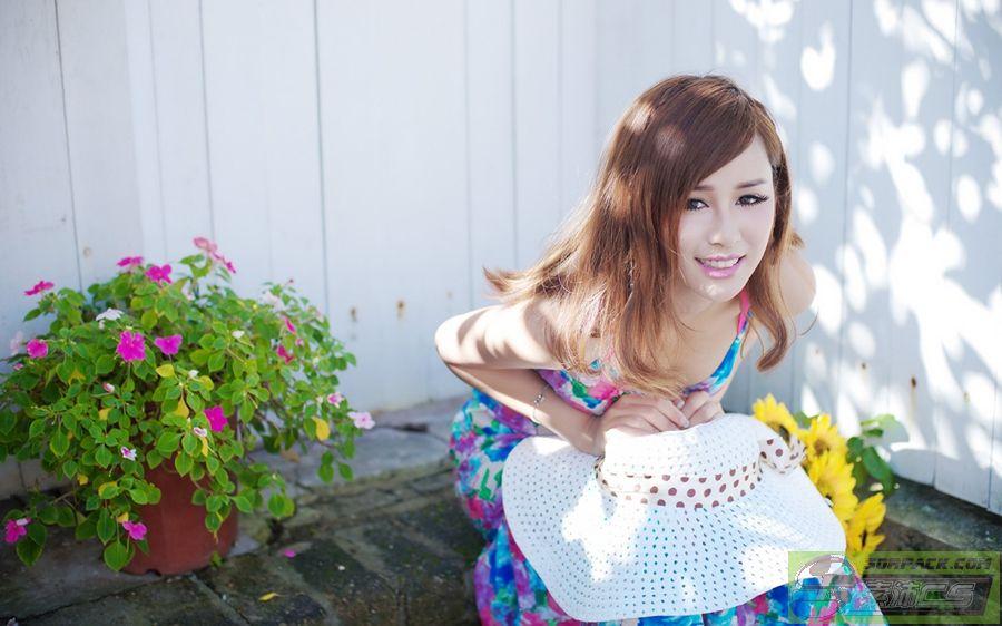 【申精】浴池清纯美眉和向日葵般的女人索沛